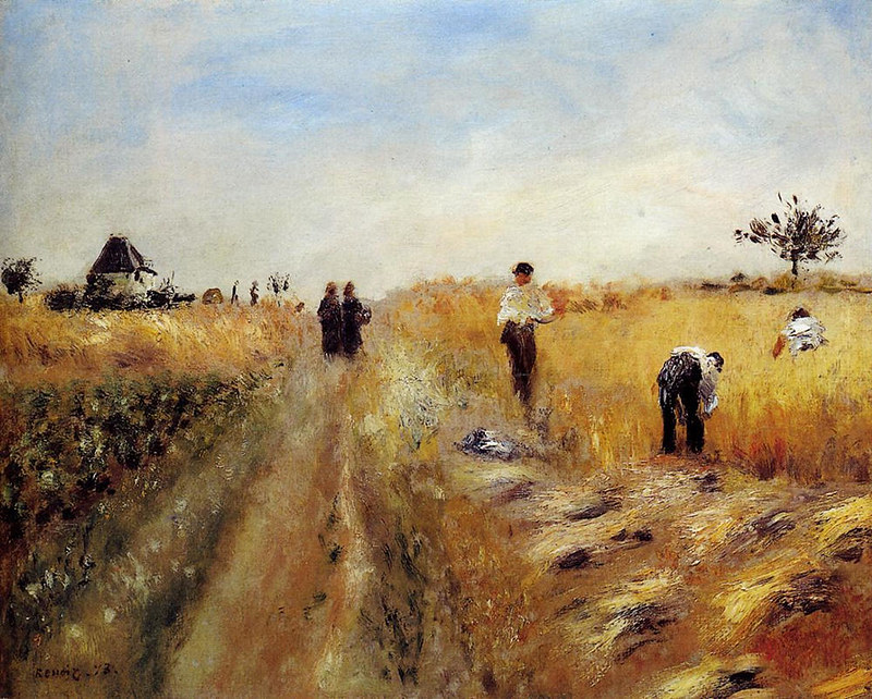 The Harvesters by Pierre Auguste Renoir, 1873