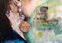 Earring in Iridescent Watercolors