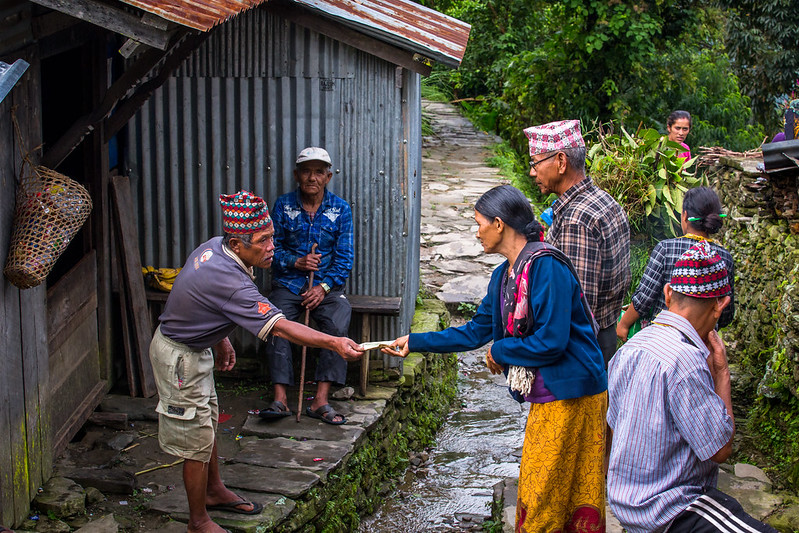 The elderly people in the village of Nalma, Lamjung, Nepal.