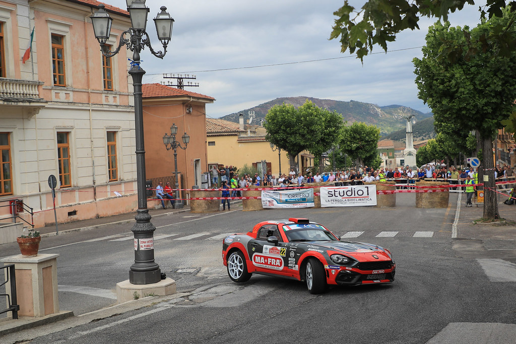 22 MODANESI Andrea (ITA)  RENZETTI Daniele (ITA) ) FIAT ABARTH 124 action during the 2017 European Rally Championship ERC Rally di Roma Capitale,  from september 15 to 17 , at Fiuggi, Italia - Photo Jorge Cunha / DPPI