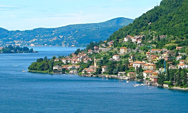 Dramatic scenery Lake Como northern Italy