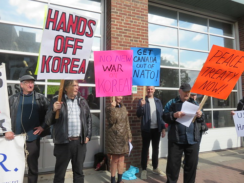 Hands Off Korea - ECAWAR Info Picket