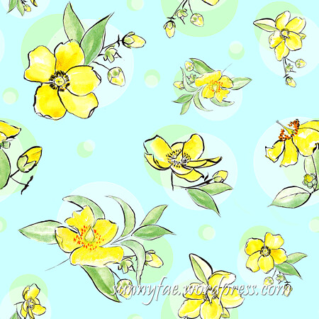 Yellow-flowers-repeat-pattern