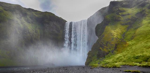 Sk gafoss waterfall, Iceland, Nikon COOLPIX S9900