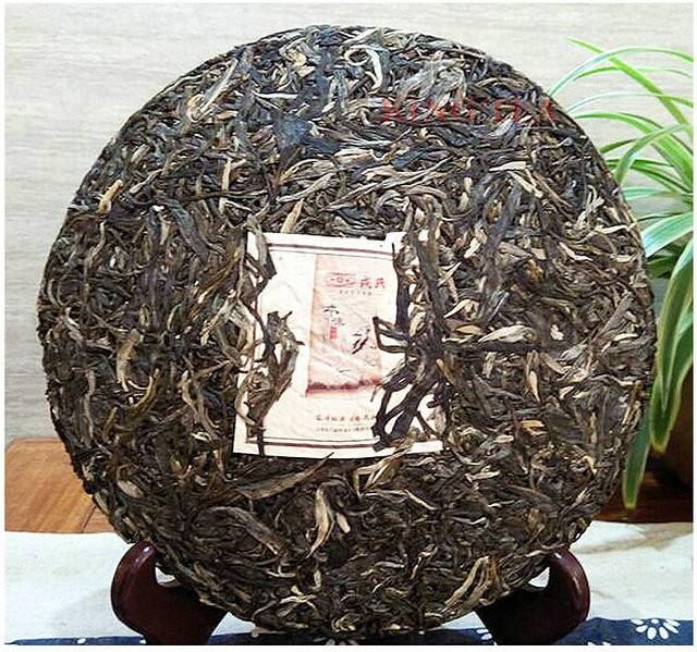 Free Shipping 2015 ShuangJiang MengKu RongShi ( BenWeiDaCheng) Cake Beeng 200g YunNan Organic Bing Puer Raw Tea Sheng Cha