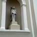 Nicho y estatua de ángel, iglesia de Nuestra Señora de la Soledad av.9, c.2a-4/ Niche and statue of an angel, Church of Our Lady of Solitude 9th av., 2a-4th st.