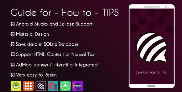 Guide for – How to – Tips Application
