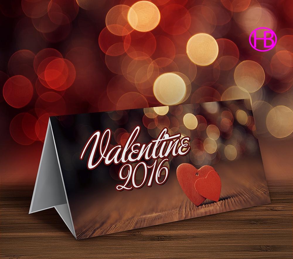 Mockup thiệp Valentine