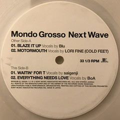 MONDO GROSSO:NEXT WAVE(LABEL SIDE-B)