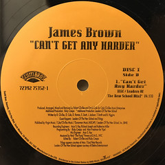 JAMES BROWN:CAN'T GET ANY HARDER(LABEL SIDE-B)