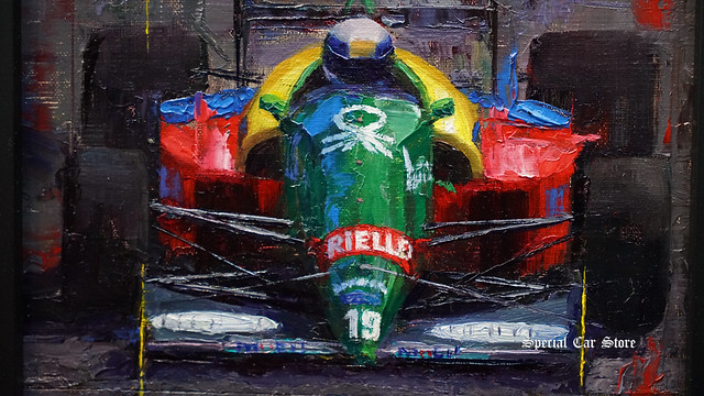 """1988 Benetton B188, Alessandro Nannini"" by Dean Adams at AFAS Exhibit - Award Night"