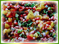 Seeded fruits of Punica granatum (Pomegranate, Buah Delima in Malay) cooked with other ingredients, 23 Aug 2017