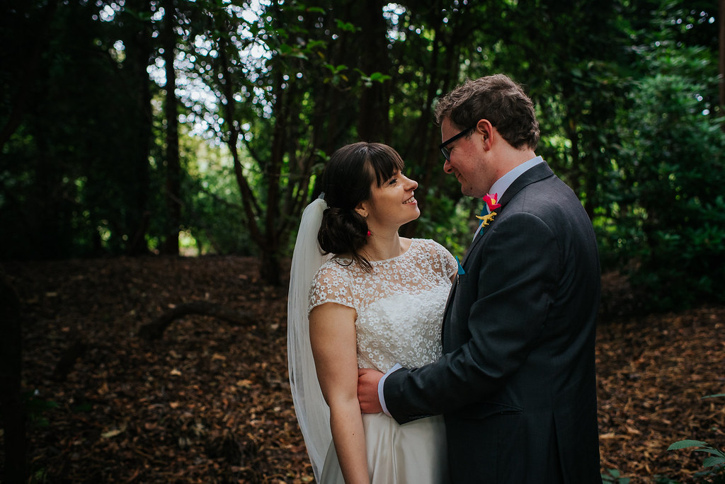wedding day - woods