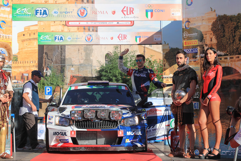 13 CERNY Jan (CZE) CERNOHORSKI Petr (CZE) Skoda Fabia R5 start during the 2017 European Rally Championship ERC Rally di Roma Capitale,  from september 15 to 17 , at Fiuggi, Italia - Photo Jorge Cunha / DPPI