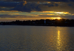 Dusk over the marina