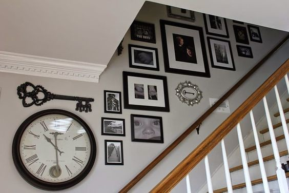 How to arrange pictures for a staircase gallery wall.