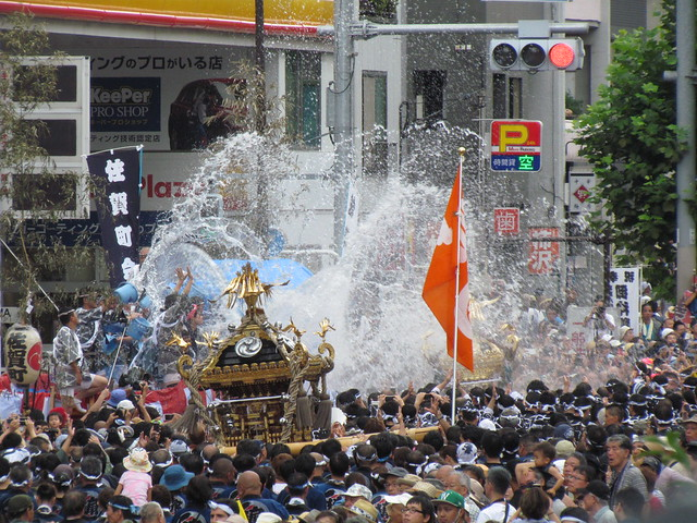 Water Pouring Festival at Tomioka Hachiman-gu Shrine