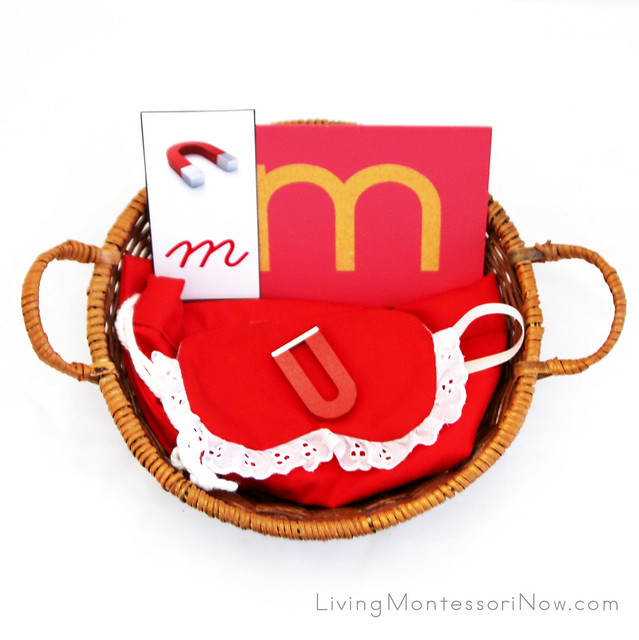 Magnet Letter and Object Basket