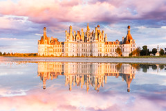 Chateau de Chambord before sunset
