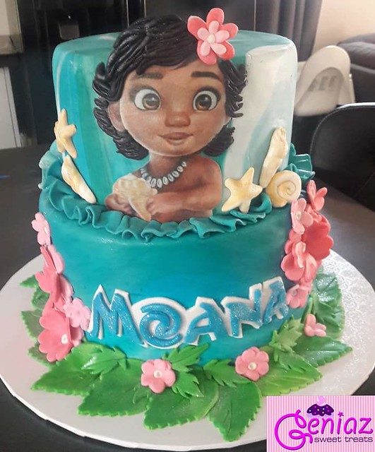 Moana Theme Cake by Eugenia Windster of Geniaz Sweet Treats