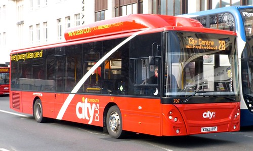 WX62 HHE 'Plymouth citybus' No. 707 'city' MAN 18.270 EcoCity / Caetano on 'Dennis Basford's railsroadsrunways.blogspot.co.uk'