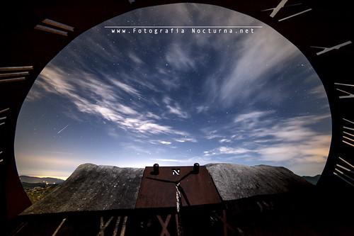 Perseida interior del reloj solar de la Peñuca