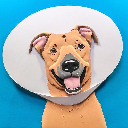 Rescue Dog Paper Sculpture by Emmanuel Jose - Hogart