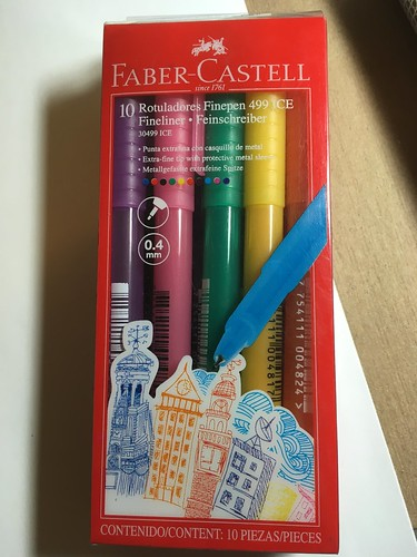 Faber Castell Finepen 499 Ice Fineliner marker set from Peru