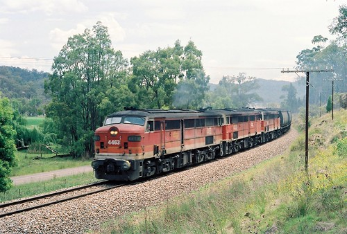 108-36 1991-12-28 4463 4438 and 4466 at Bylong