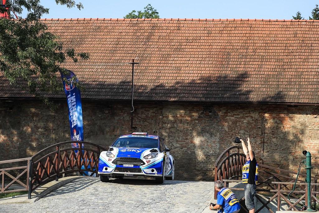 21 HABAJ Lukasz (POL) DYMURSKI Daniel (POL) Ford Fiesta R5 action during the 2017 European Rally Championship ERC Barum rally,  from August 25 to 27, at Zlin, Czech Republic - Photo Jorge Cunha / DPPI