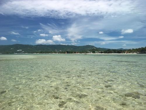 今日のサムイ島 8月21日 チャウエンビーチ 水中ウォーキング