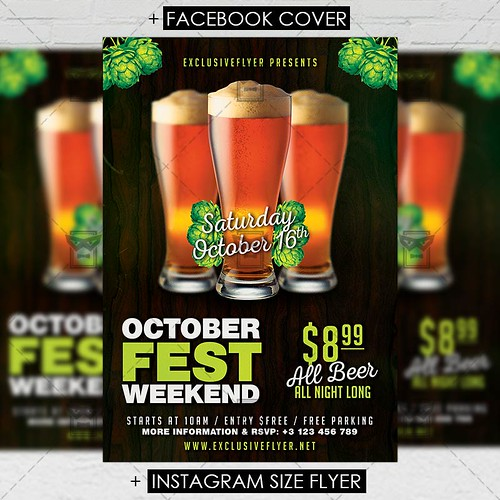 Oktoberfest Weekend - Seasonal A5 Flyer Template