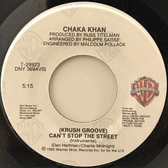 CHAKA KHAN:CAN'T STOP THE STREET(LABEL SIDE-B)