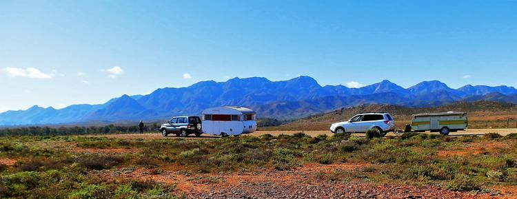 Ranges from the road between Hawker to Parachilna, Flinders Ranges, South Australia