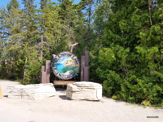 Cyprus Lake sign