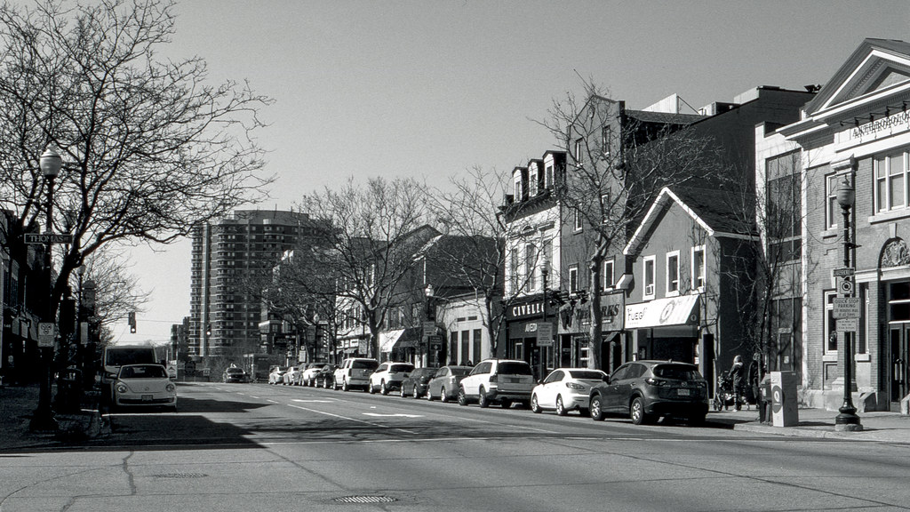 Downtown Oakville in March