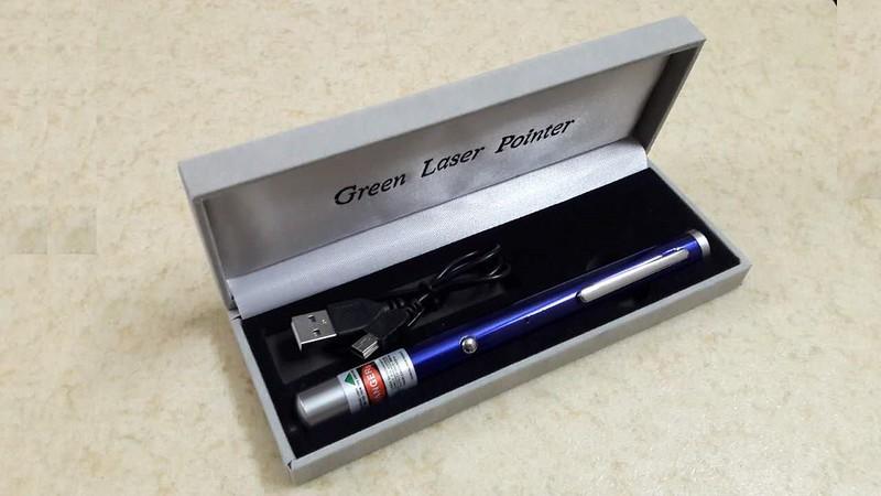 Bút laser sạc USB 5 màu giá rẻ - 6