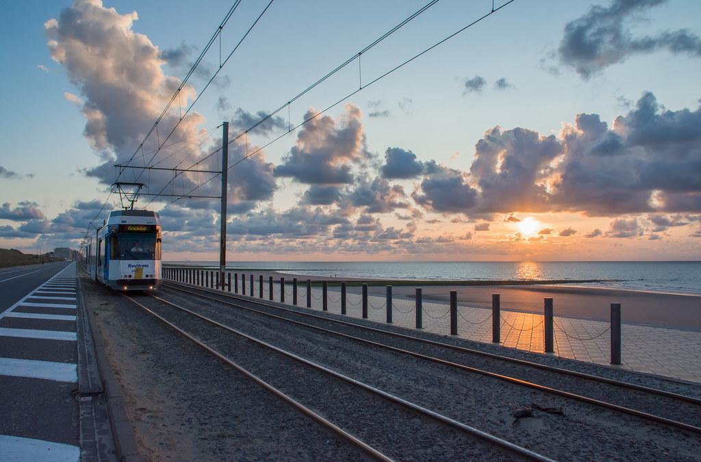 Sunset tram.