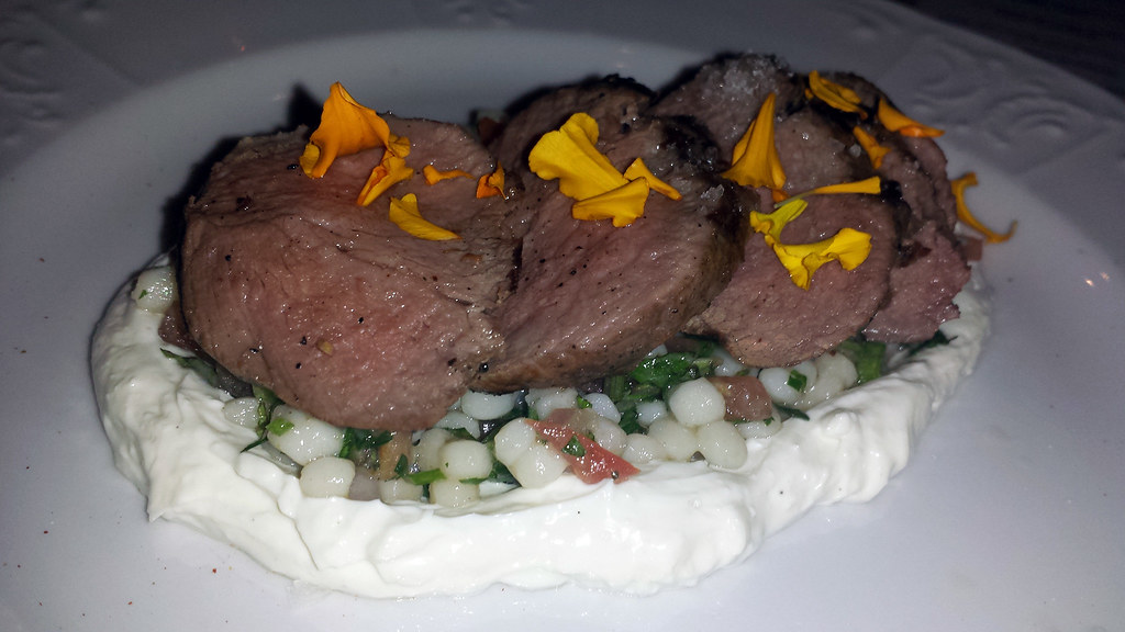 Roast lamb from Cleo at SLS Las Vegas