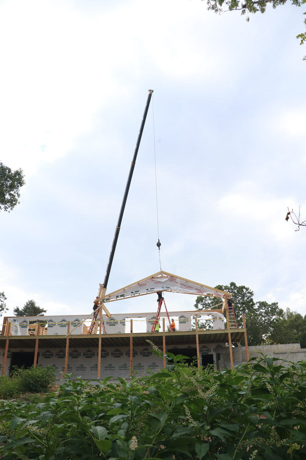 Framing the New Winery Building