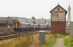 Blackpool line before modernisation 27/09/17