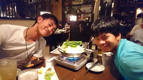 熊本から実家まで輪行した後、博多でセロと脅数とモツを食べました。お疲れ様でした。