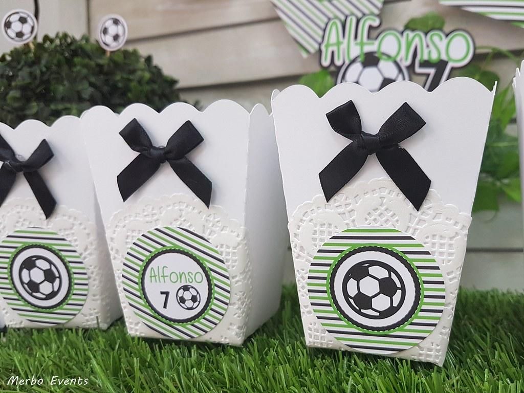 cajitas palomitas fiesta cumpleaños futbol Merbo Events