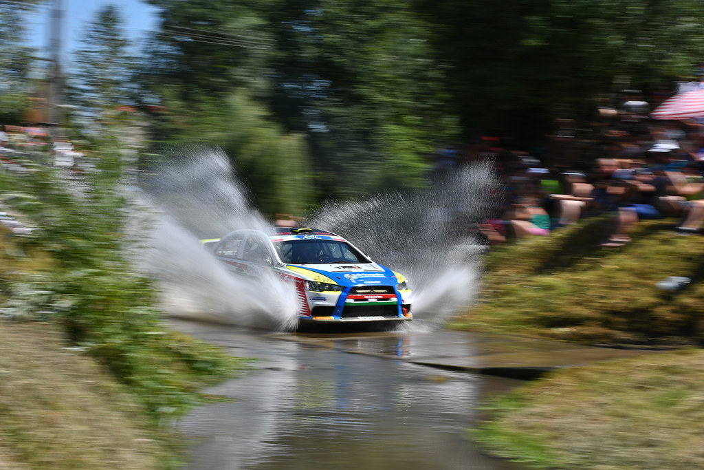 25 ERDI Tibor Jr. (HUN) PAPP Gyorgy (HUN) Mitsubishi Lancer Evo X action during the 2017 European Rally Championship Rally Rzeszowski in Poland from August 4 to 6 - Photo Wilfried Marcon / DPPI