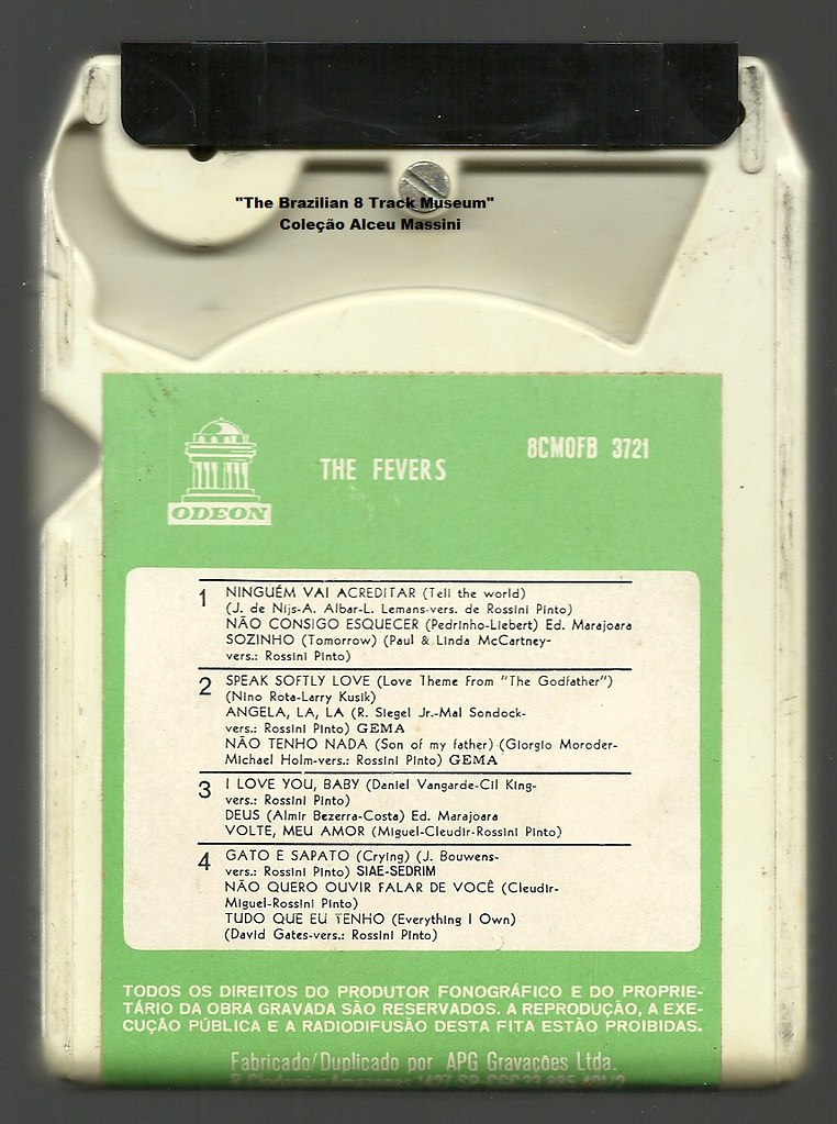 1972 - The Fevers / The Fevers - brazilian 8 track - fita cartucho de 8 pistas