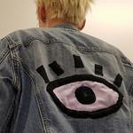 Jayne Butler; Third Eye Jacket; Recycled jacket, patch, electronics; 2017 -