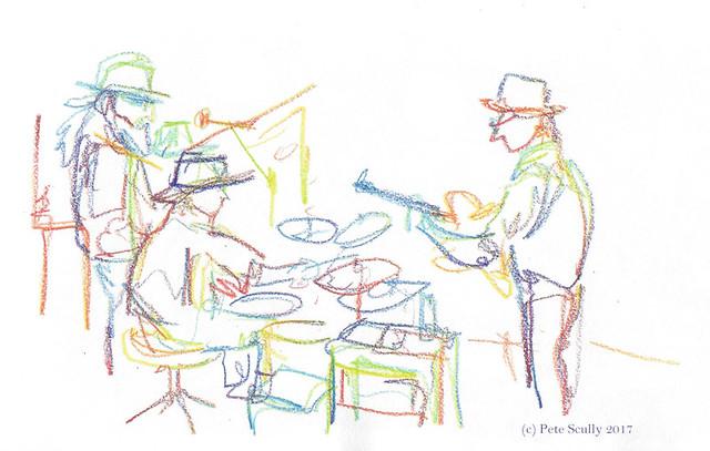 band at central park, davis
