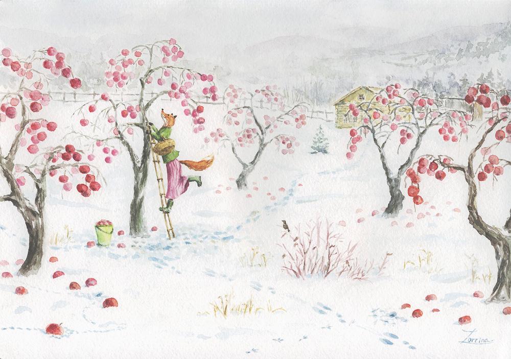 лисичка-яблоки