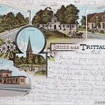 Trittau Postkarte mit Staatsbahnhof vor 1898