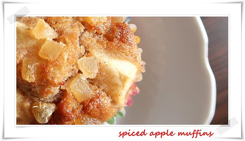 spiced apple muffin